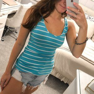 Blue & White Striped Tank